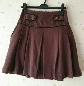 axesブラウンニットスカート