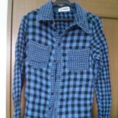 スワンキー☆青チェックシャツ
