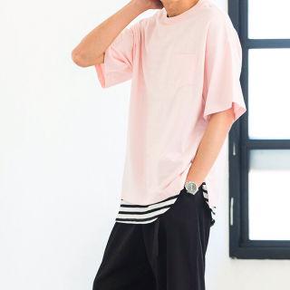 【 WEGO 未使用 】胸ポケット付 ライトピンク ビッグT