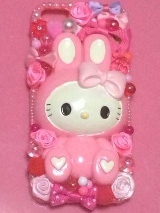iPhone5 キティ 姫デコ ケース