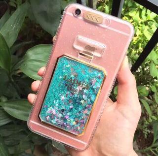 光る!グリッター香水型 iPhone 6/6sケース
