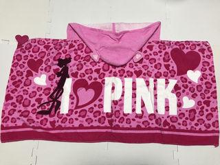 ユニバ ピンクパンサーフード付き 巻き タオル