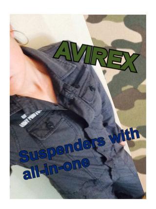 AVIREX サスペンダー付き オールインワン