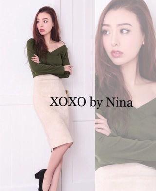 XOXO by NinaVネック2wey長袖カットソー