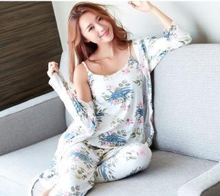 新品★韓国ファッション 花柄ルームウェア 3点セット