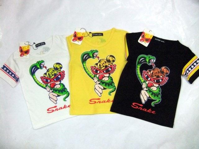 ヒステリックミニ キッズTシャツ 男女サイズ snake