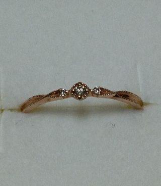K10PGageteメレダイヤがキラッと可愛いリング