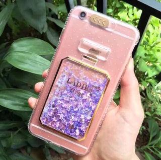 光る!グリッター香水型 iPhone 6 Plusケース