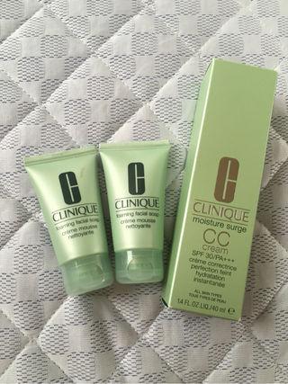 CLINIQUE洗顔とメークアップ保湿クリーム無料