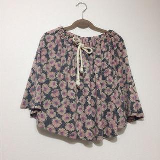 クリスプ花柄スカート
