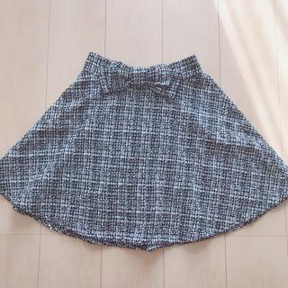 INGNI イング ウエストリボン ツイード スカート