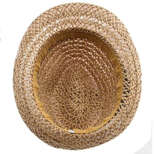 麦わら帽子 【ブラウン】 レディース 折りたたみ 可 中折れ