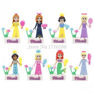 プリンセス レゴ互換 8体set