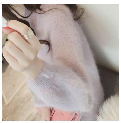 大人気 ふわふわ シャギーニットワンピース【ピンク】
