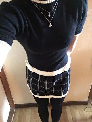 【美品】JAIRO White ニットミニワンピース