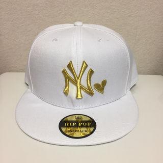 白金 ヤンキース キャップ