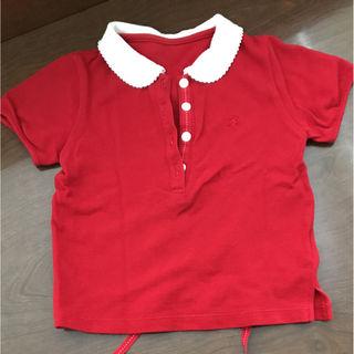 コムサデモード 赤ポロシャツ
