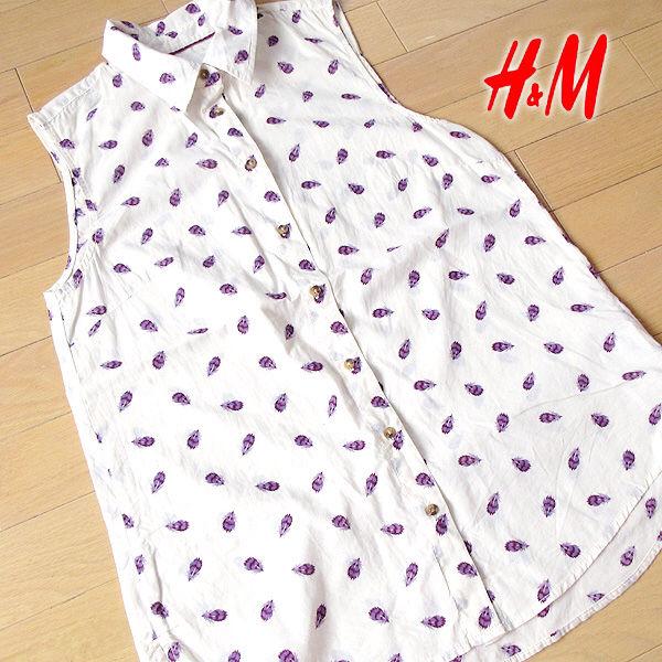 超美品 USサイズ4(M位) H&M ノースリーブシャツ