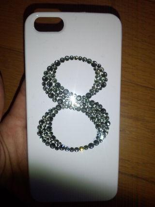 iPhone5ケース スワロフスキー デコ ナンバー 8