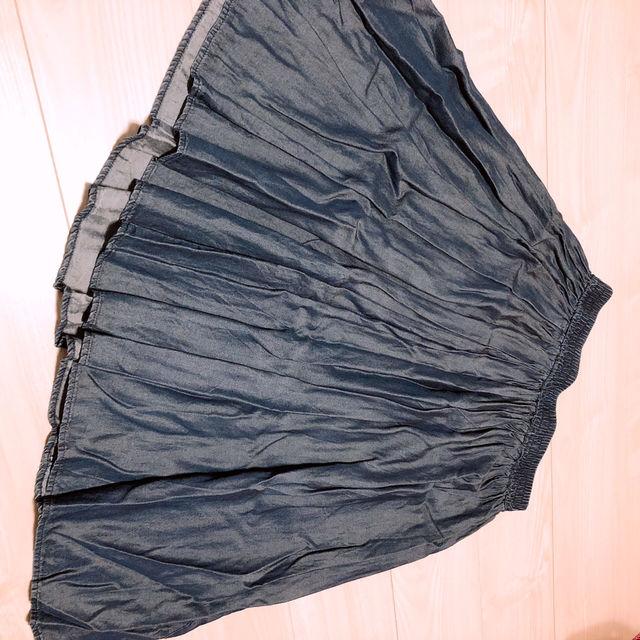 デニム調スカート(GU(ジーユー) ) - フリマアプリ&サイトShoppies[ショッピーズ]