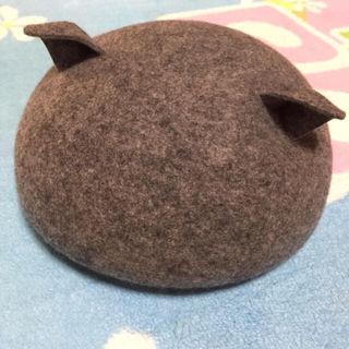 猫耳ベレー帽