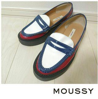 moussy*厚底ローファー