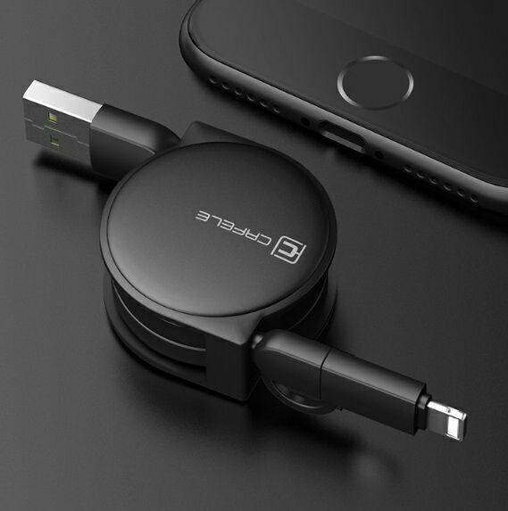 2in1 ケーブル Micro USB ライトニング