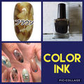 color ink  brown
