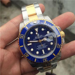 ロレックスROLEXブマリーナー青コンビ腕時計