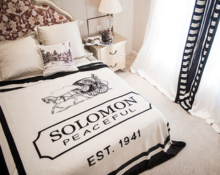 毛布 ブランケット Solomon 白色