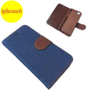 【送料無料】手帳型iPhone6ケース ブルー