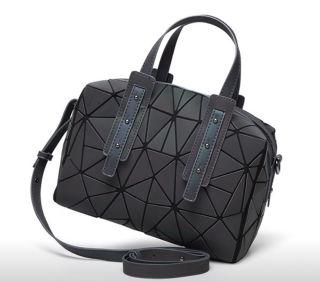 幾何学柄ホログラフィックボストンバッグハンドバッグ
