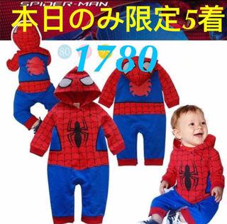 個数限定スパイダーマンロンパース