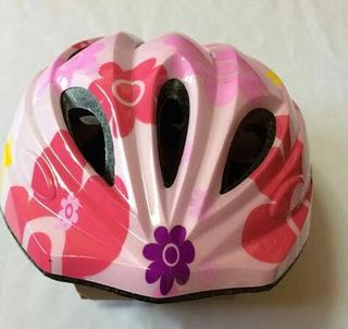 超軽量 ピンク キッズ 自転車 ヘルメット ピンク シール付