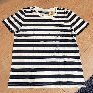 【新品】無印 ボーダー Tシャツ クルーネック 半袖