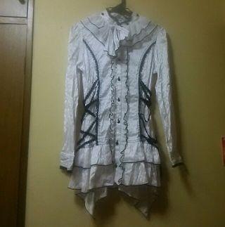 アルゴンキンusedサイド編み上げヘムロングシャツ