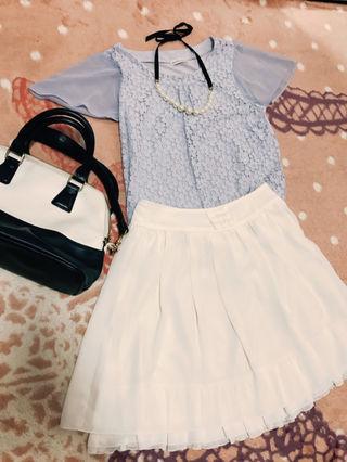 【ホワイトリボンスカート】