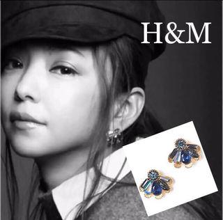 限定品安室奈美恵×H&MコラボピアスBlue