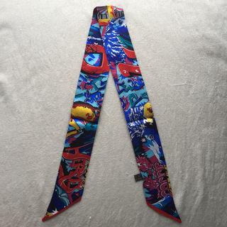 シルクバッグスカーフ ツイリーリボン グラフィティー
