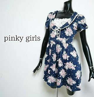 pinky girls*フラワーワンピース