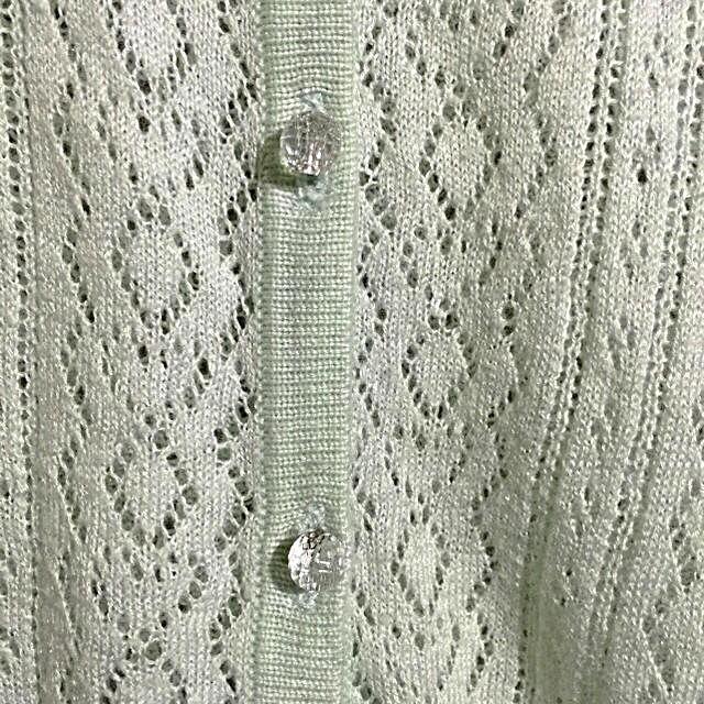 earth 透かし編みカーディガン