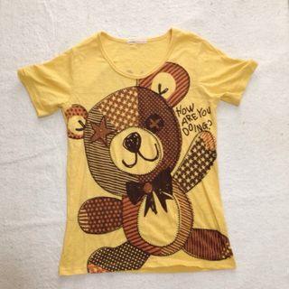 rough*くまさん刺繍Tシャツ