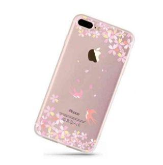 iPhone 6 ケース TPU  透明 キラキラ  -桜