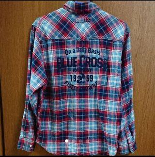 ブルークロス チェックシャツ