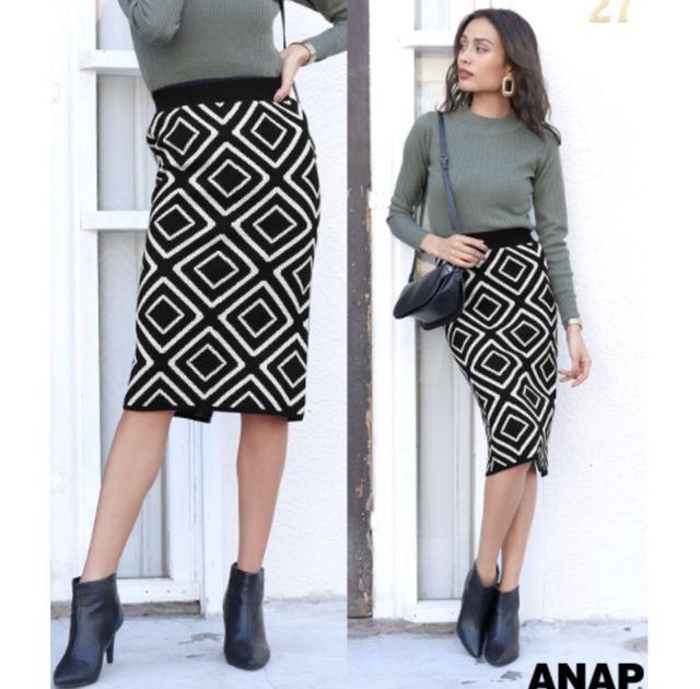 総柄ジャガードニットスカート (ANAP(アナップ) ) - フリマアプリ&サイトShoppies[ショッピーズ]