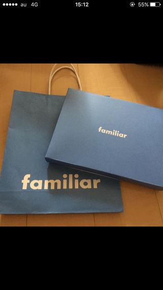 familiar ファミリア ショップ袋 プレゼント 箱