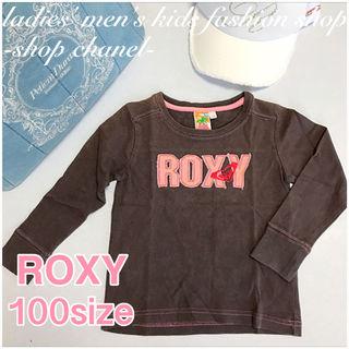 ROXY女の子 長袖 ロゴロンT/100