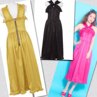 リルリリーレザーマキシワンピース ドレス