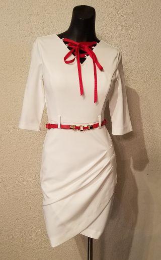 Jasmine胸元リボンタイトミニドレス