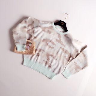 ラグナムーン 迷彩ジャガードニットプルオーバー セーター